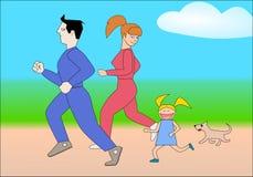 спорты семьи Стоковые Фото