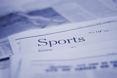 спорты страницы газеты стоковая фотография