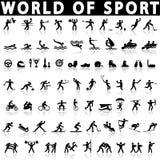 спорты установленные иконами Стоковое Изображение