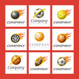 спорты установленные логосами Стоковое Изображение RF