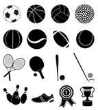 спорты установленные иконами Стоковые Фото