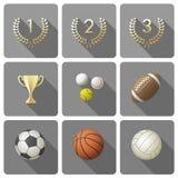 спорты установленные иконами Стоковое Фото
