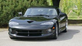 спорты черного автомобиля новые Стоковое Изображение RF