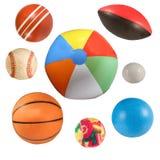 спорты шариков изолированные собранием Стоковые Фото