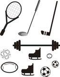 спорты pictogram оборудования Стоковые Изображения RF