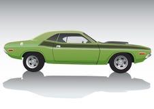 спорт автомобиля зеленый Стоковое Изображение RF