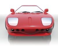 спорт автомобиля передний красный Стоковое Фото