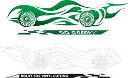 спорт автомобиля зеленый Стоковая Фотография