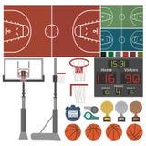 Спорт-Баскетбол-оборудование Иллюстрация штока