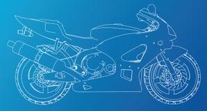 Спорт велосипед техническая провод-рамка Форма EPS10 Вектор созданный 3d бесплатная иллюстрация