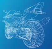 Спорт велосипед техническая провод-рамка Форма EPS10 Вектор созданный 3d иллюстрация вектора