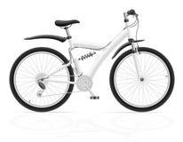 Спорт велосипед с задней иллюстрацией вектора амортизатора удара Стоковое Изображение RF