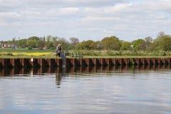 Спорт двигая под углом Йоркшир стоковое изображение rf