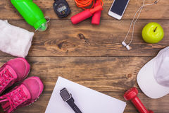 Спорт возражает образ жизни оборудования здоровый активный Стоковое Фото