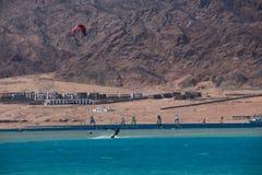 Спорт в Dahab Египта Стоковая Фотография