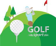Спорт гольфа Стоковая Фотография RF