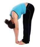спорт девушки брюнет загиба передний Стоковое Изображение RF