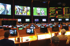 Спорт держа пари на Сизарс Палас   в Лас-Вегас Стоковое Фото