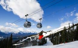 Спорт зимы на лыжном курорте Стоковые Фото