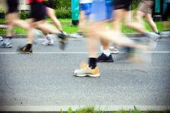 спорт идущих ботинок марафона Стоковые Фото