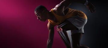 Спорт Изолированный бегун спортсмена стоковые фотографии rf