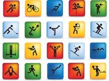спорт иконы установленный Стоковое фото RF