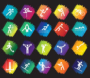спорт иконы установленный Стоковое Изображение