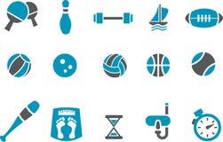 спорт иконы установленный Стоковая Фотография