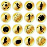 спорт икон Стоковое Изображение