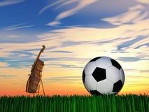 Спорт или зернокомбайн или выбор музыки стоковые изображения rf