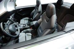 спорт интерьера автомобиля стоковое изображение rf