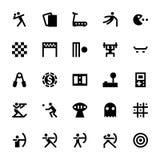 Спорт и значки 5 вектора игр Стоковые Фотографии RF