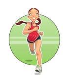 Спорт Идущая девушка Стоковые Фото