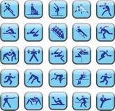 спорт кнопок Стоковая Фотография
