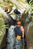 Спорт крайности Canyoning Стоковые Фотографии RF