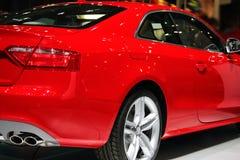спорт красного цвета автомобиля Стоковое фото RF