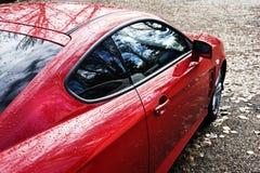 спорт красного цвета автомобиля Стоковая Фотография RF