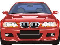 спорт красного цвета автомобиля Стоковое Изображение