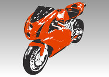 спорт красного цвета мотоцикла Стоковое фото RF