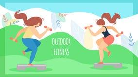 Спорт летчика для фитнеса надписи женщин на открытом воздухе бесплатная иллюстрация