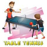 Спорт настольного тенниса вектора шаржа с отделенными слоями для игры и анимации Стоковое фото RF