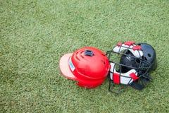 Спорт оборудования на поле травы Стоковая Фотография RF