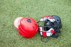 Спорт оборудования на поле травы Стоковое Изображение RF