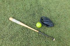Спорт оборудования софтбола Стоковое фото RF