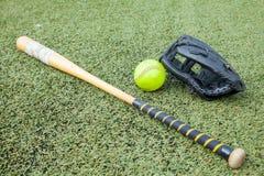 Спорт оборудования софтбола Стоковые Фото
