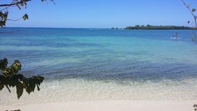 Спорт доски затвора на красивом пляже Стоковое Изображение RF