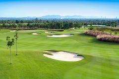 Спорт поля для гольфа стоковые фотографии rf