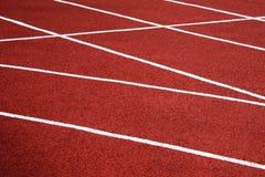 Спорт разделяя диапазоны для конкуренций на старом третбане битума стоковые изображения rf