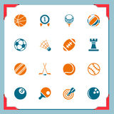 спорт серии икон рамки Стоковые Изображения RF