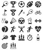 спорт силуэта иконы культуриста иллюстрация вектора